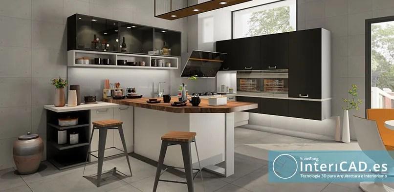 cocina moderna con realidad virtual