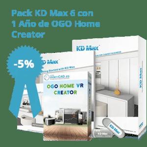 Pack KD Max 6 con 1 año de OGO Home Creator