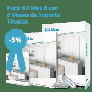 Pack KD Max 6 con 6 meses de soporte técnico