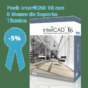 Pack InteriCAD T6 con 6 meses de soporte técnico