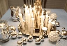 kaarsen in woonkamer