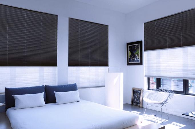 slaapkamer donker maken plisse gordijnen