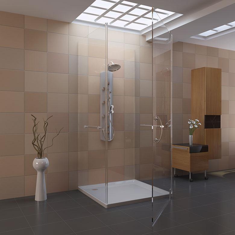 Badkamer voorbeelden inloopdouche - Kleine badkamer met douche al italiaanse ...