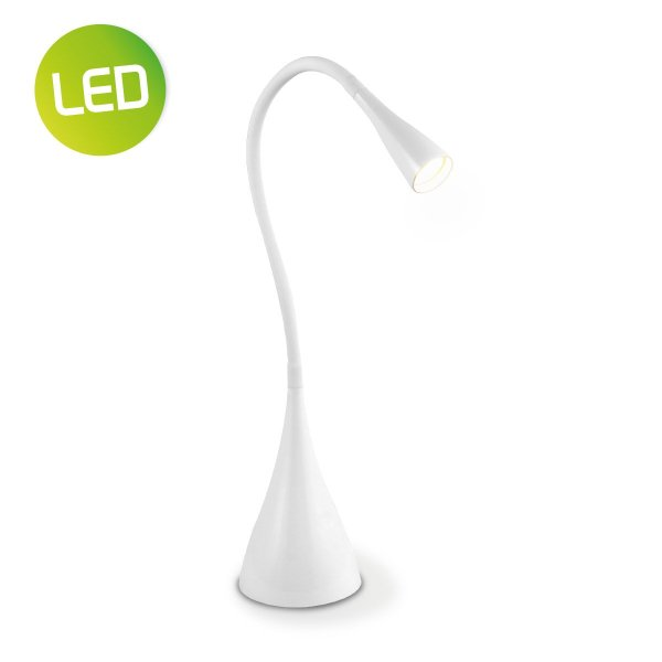 Home sweet home LED bureaulamp Flex ↕ 48,5 cm - wit