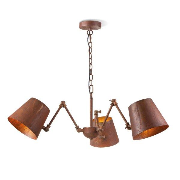 Home sweet home hanglamp Sweep 3 lichts - roestbruin
