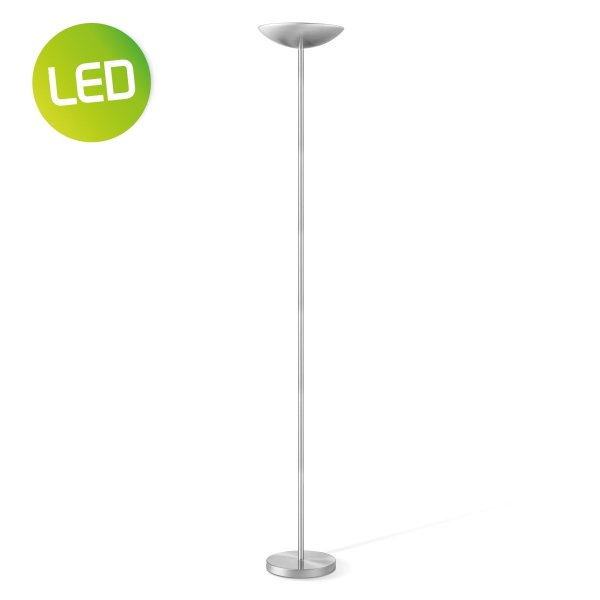 Home sweet home vloerlamp Easy LED uplight - mat staal