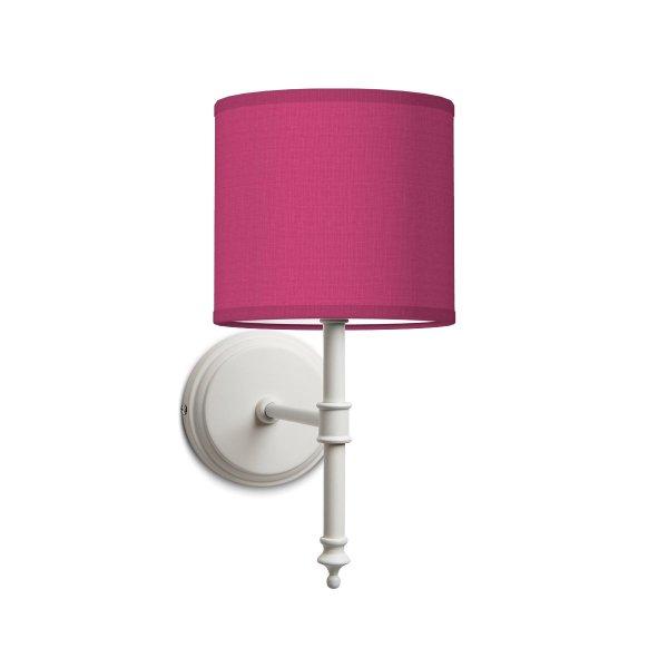 Home sweet home wandlamp baroc white bling Ø 16 cm - roze