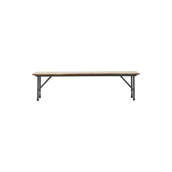 House Doctor Bench, Party, Foldable Hout, Metaal Zwart