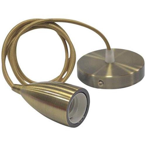LED Hanglamp - Edysa - Industrieel - Rond - Mat Brons Aluminium - E27