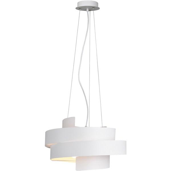 LED Hanglamp - Hangverlichting - Inbouw - Trion Holmon - E27 Fitting - Rond - Mat Wit - Aluminium