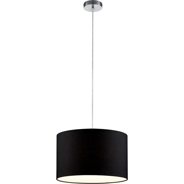 LED Hanglamp - Hangverlichting - Trion Hotia - E27 Fitting - Rond - Mat Zwart - Aluminium