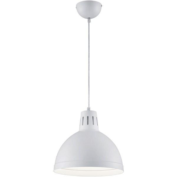 LED Hanglamp - Hangverlichting - Trion Sicano - E27 Fitting - Rond - Mat Wit - Aluminium