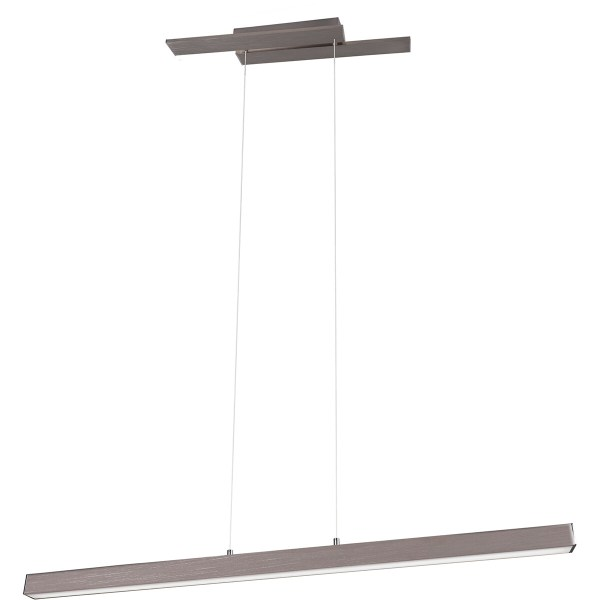 LED Hanglamp - Trion Balfy - 44W - Warm Wit 3000K - Rechthoek - Mat Nikkel - Aluminium