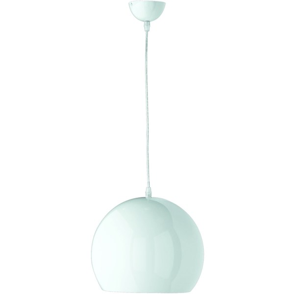 LED Hanglamp - Trion Boniro - E27 Fitting - 1-lichts - Rond - Glans Wit - Aluminium