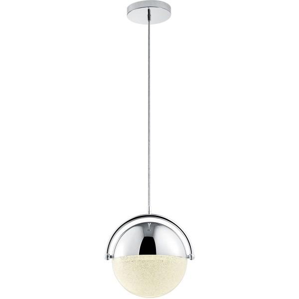LED Hanglamp - Trion Chiso - 22W - Warm Wit 3000K - Dimbaar - Rond - Glans Chroom - Aluminium