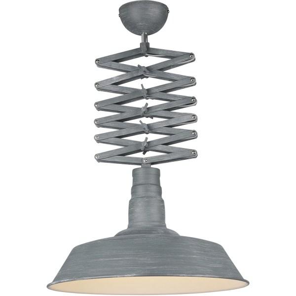 LED Hanglamp - Trion Detrino - E27 Fitting - 1-lichts - Rond - Beton Look - Aluminium
