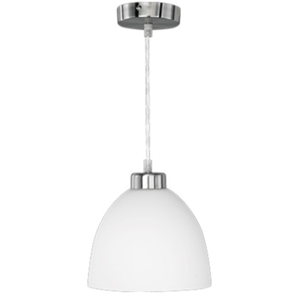 LED Hanglamp - Trion Dolina - E27 Fitting - 1-lichts - Rond - Mat Chroom - Aluminium