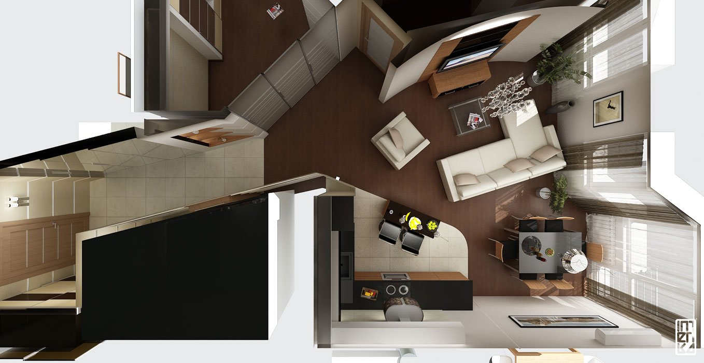 дизайн интерьера студии 1