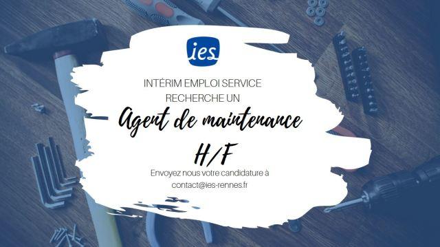 Offre-emploi-agent-maintenance-HF-CDI-Interim-Emploi-Service-IES