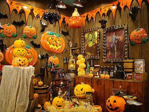 ハロウィンの部屋の飾り付け