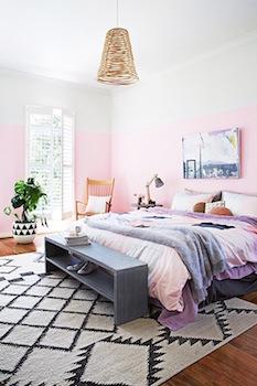 おしゃれな寝室のインテリアのコーディネート画像2