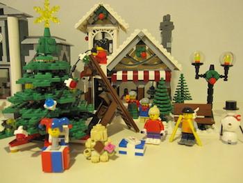 レゴ好きにおすすめのクリスマスの飾り付け画像