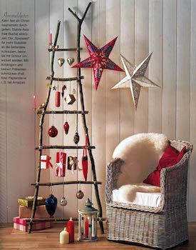 ツリーがなくてもクリスマス雑貨を飾り付けた空間の画像