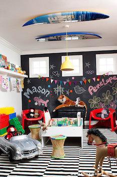 雑貨屋さんのようなおしゃれな男の子の子供部屋の画像
