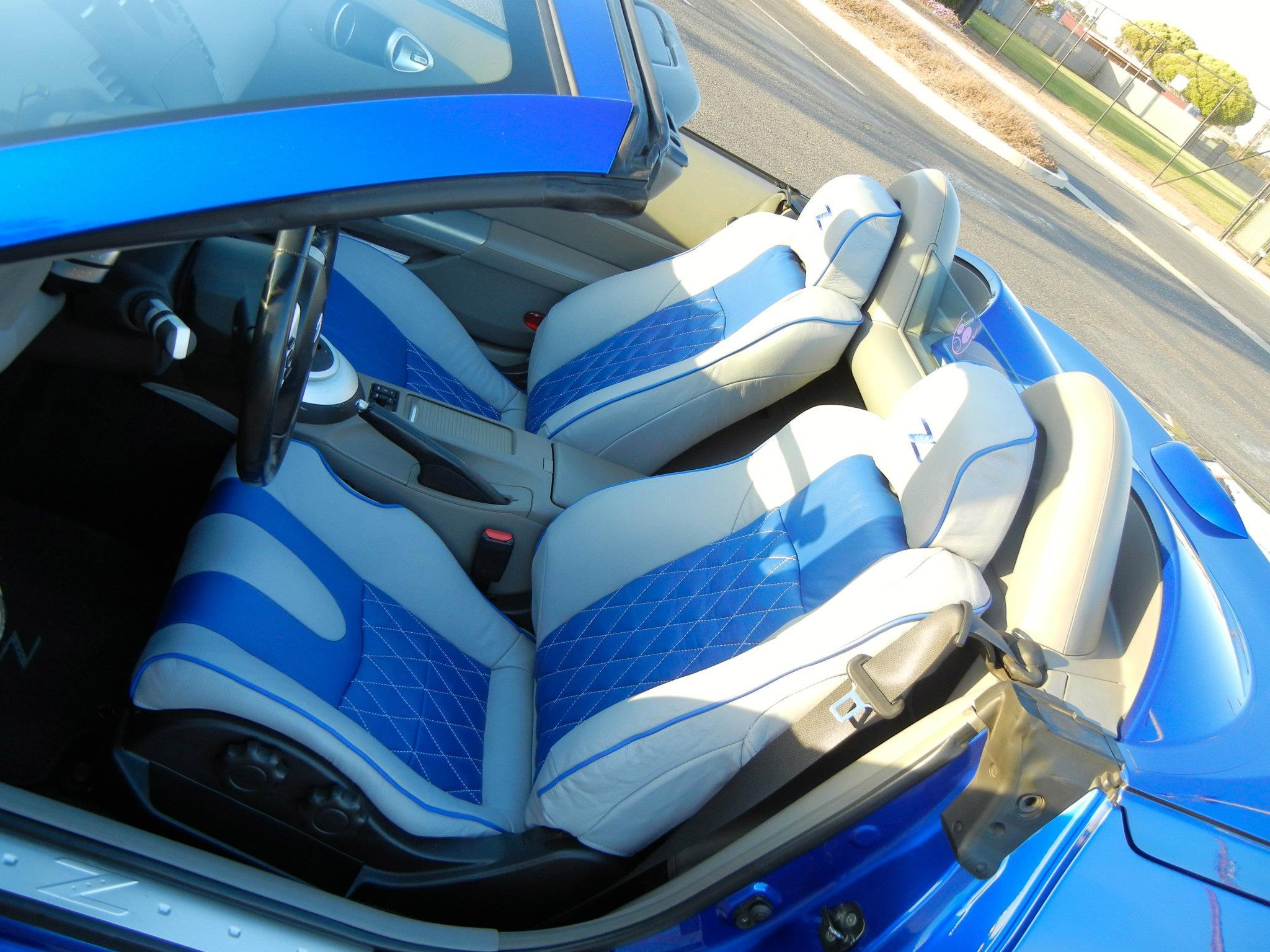 02 08 NISSAN 350Z GENUINE LEATHER SEAT COVERS CUSTOM