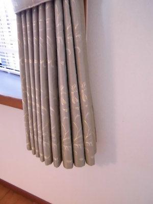冬場の冷暖房対策 裏地付カーテン