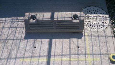 駐車場にパーキングブロック設置(宇治市)