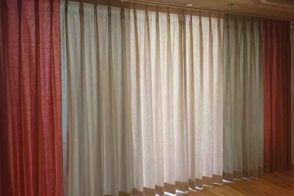 マンションのカーテンレール・オーダーカーテン(京都市下京区)