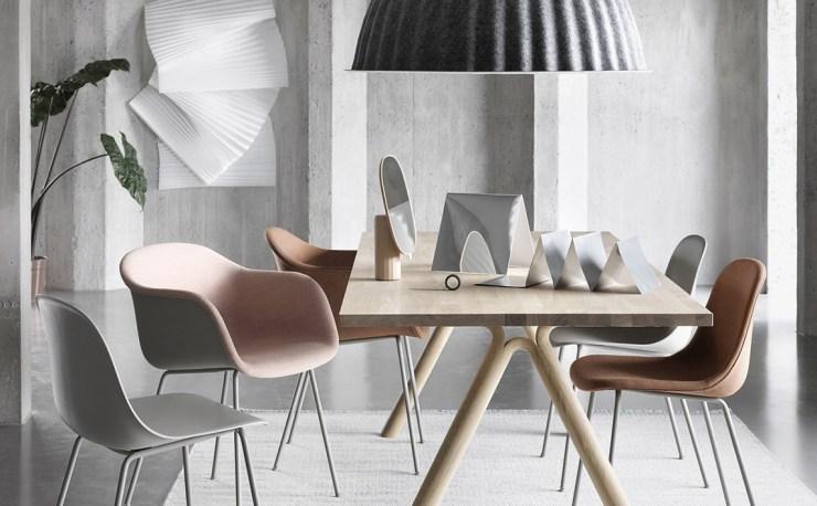 muuto Split Table by Staffan Holm - Solid Oak, Oak Black, Oak White