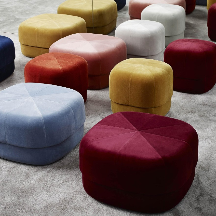 The Scandinavian Interpretation of the Moroccan Leather Pouf – Circus Pouf by Simon Legald for Normann Copenhagen