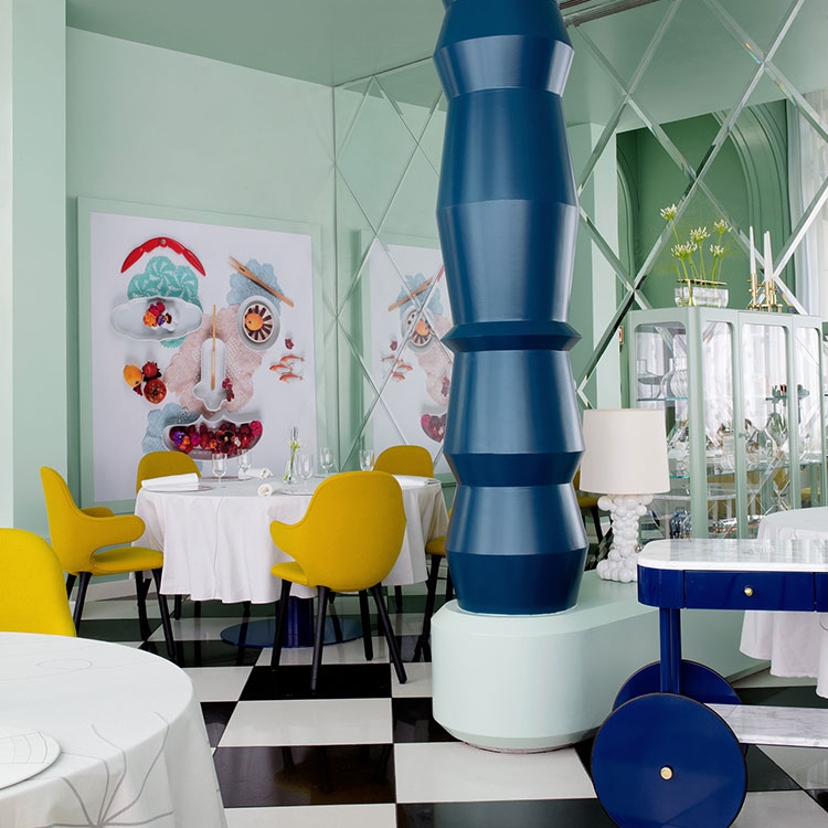 The fabulous 'La Terraza Del Casino' Restaurant in Madrid by Designer and Artist Jaime Hayon
