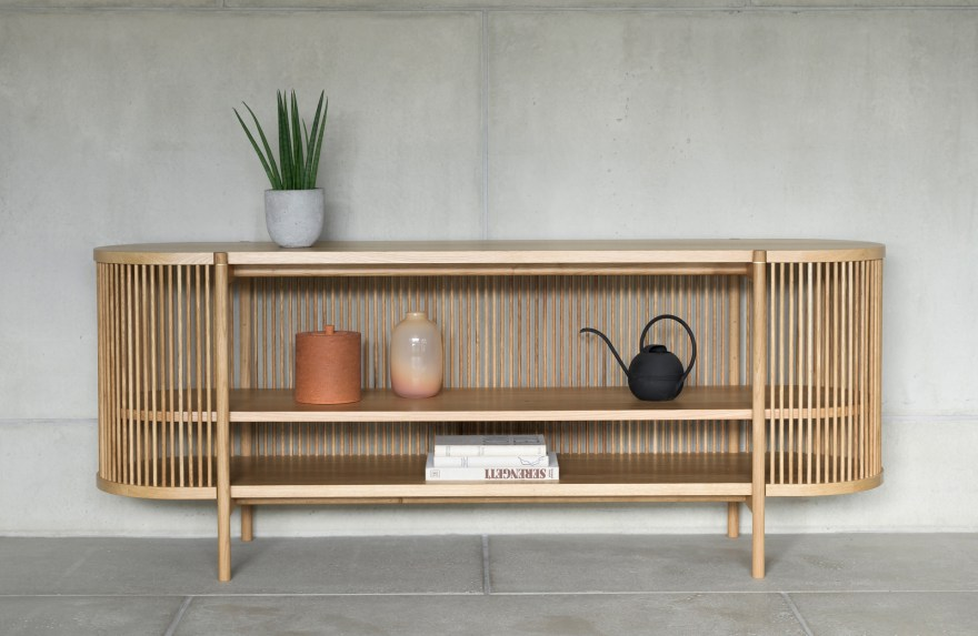 Perfect Finnish Craftsmanship – Bastone Wood Cabinet and Sideboard by Antrei Hartikainen for Poiat