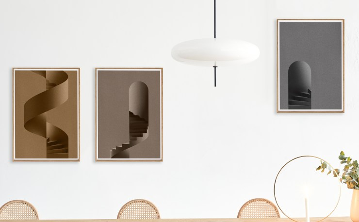 The Fascination for Stairs Poster Collection by the Swedish Note Design Studio for Paper Collective - Interior 3000 Design Blog, Interior Design, prints, Furniture design