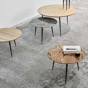 Mesmerizing Indian Marble on Elegant Legs - Disc Side Table by Danish Design House Mater, Interior 3000 Design Blog, Interior Design, Furniture Design