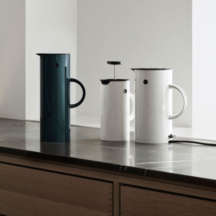 The Amazing Stelton Family Design – Vacuum Jug, Press Coffee Maker and Electric Kettle by Erik Magnussen