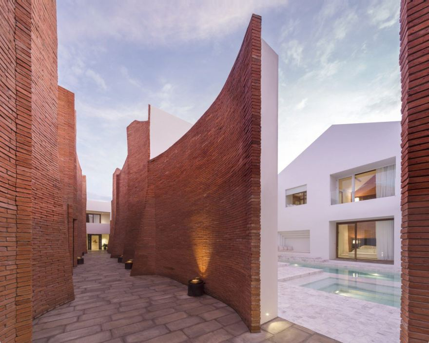 This Curved Brick Facade Delightful – Sala Ayutthaya Boutique Hotel Design in Thailand by Onion Architects