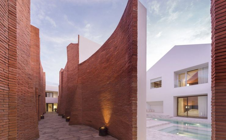 This Curved Brick Facade Delightful - Sala Ayutthaya Boutique Hotel Design in Thailand by Onion Architects, interior 3000 Design Blog, Interior Design, Furniture Design