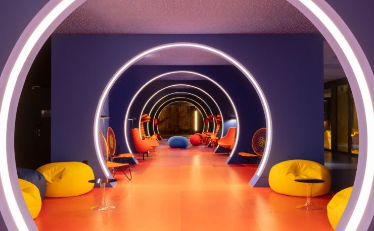 A Colorful and Vibrant Interior Design for nhow Marseille Hotel - NH Marseille Palm Beach by Teresa Sapey Studio, Interior 3000 Design Blog, Interior Design, Furniture Design