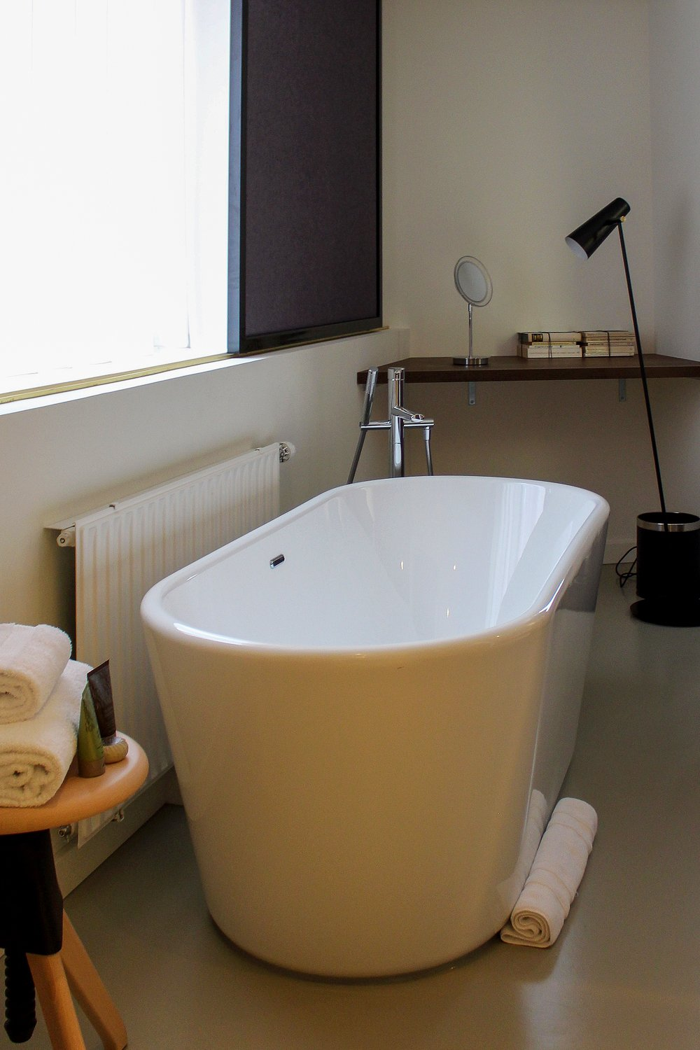 Designer bathtub at the Printer Suite of the Ink Hotel Amsterdam