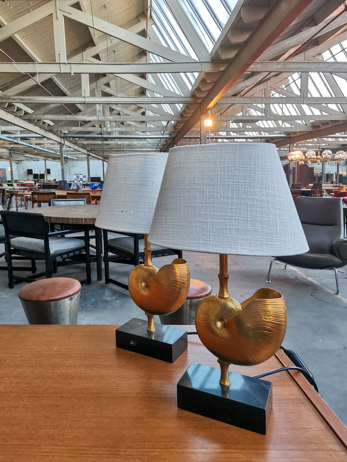 Shell table lamps