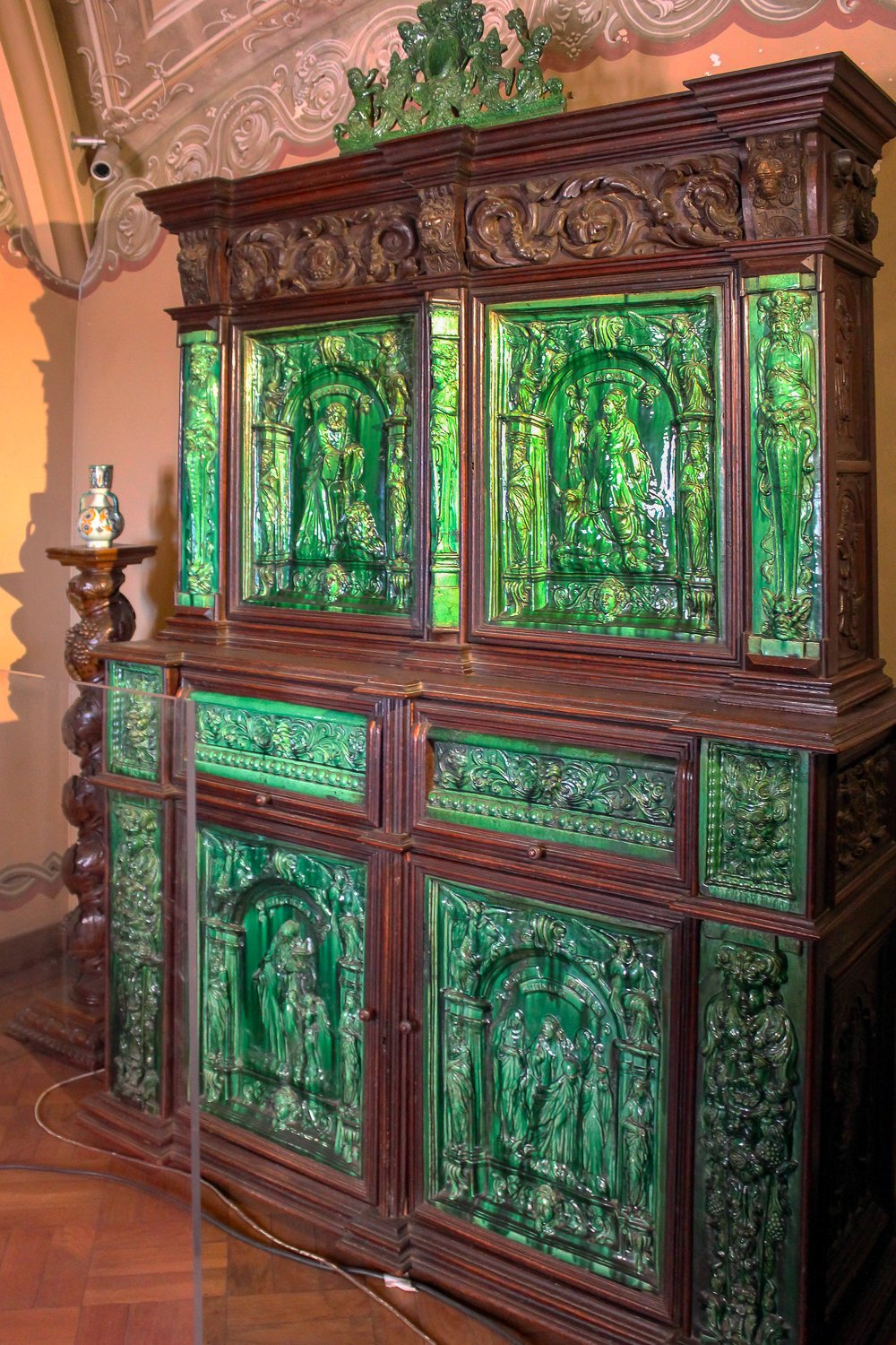 Emerald cabinet at the Palacio da Pena Sintra Portugal