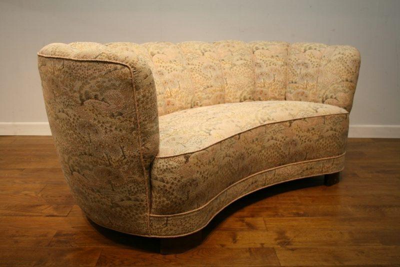 Danish 1940s Banana Sofa For Re Upholstery Interior
