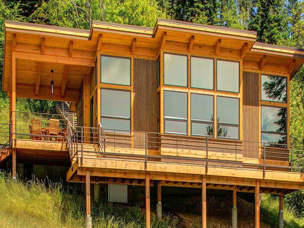 desain rumah kabin timber