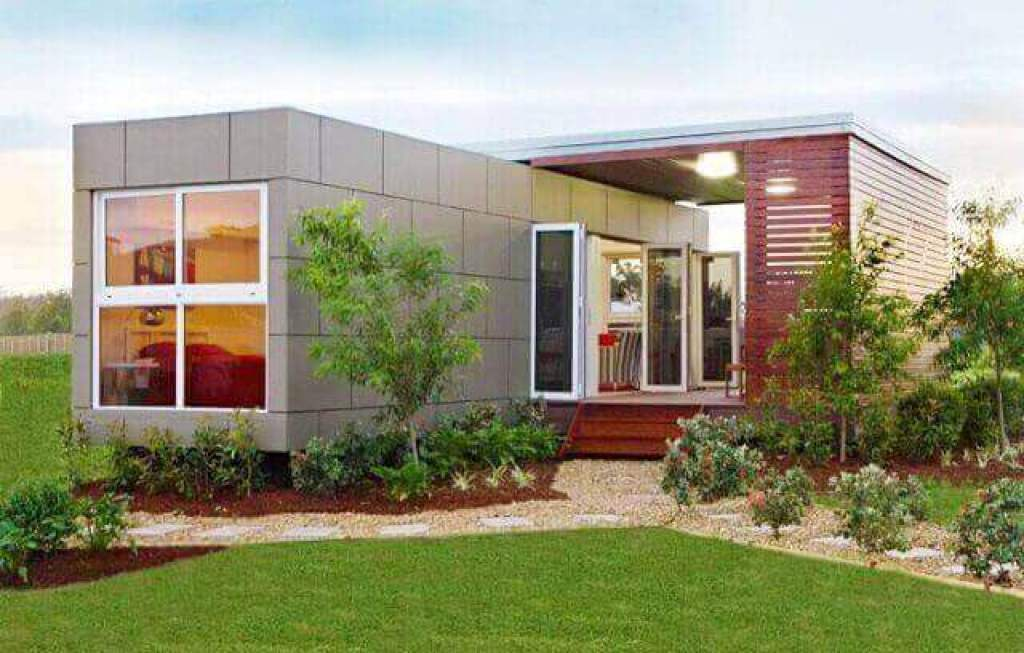rumah kecil modular prafabrikasi