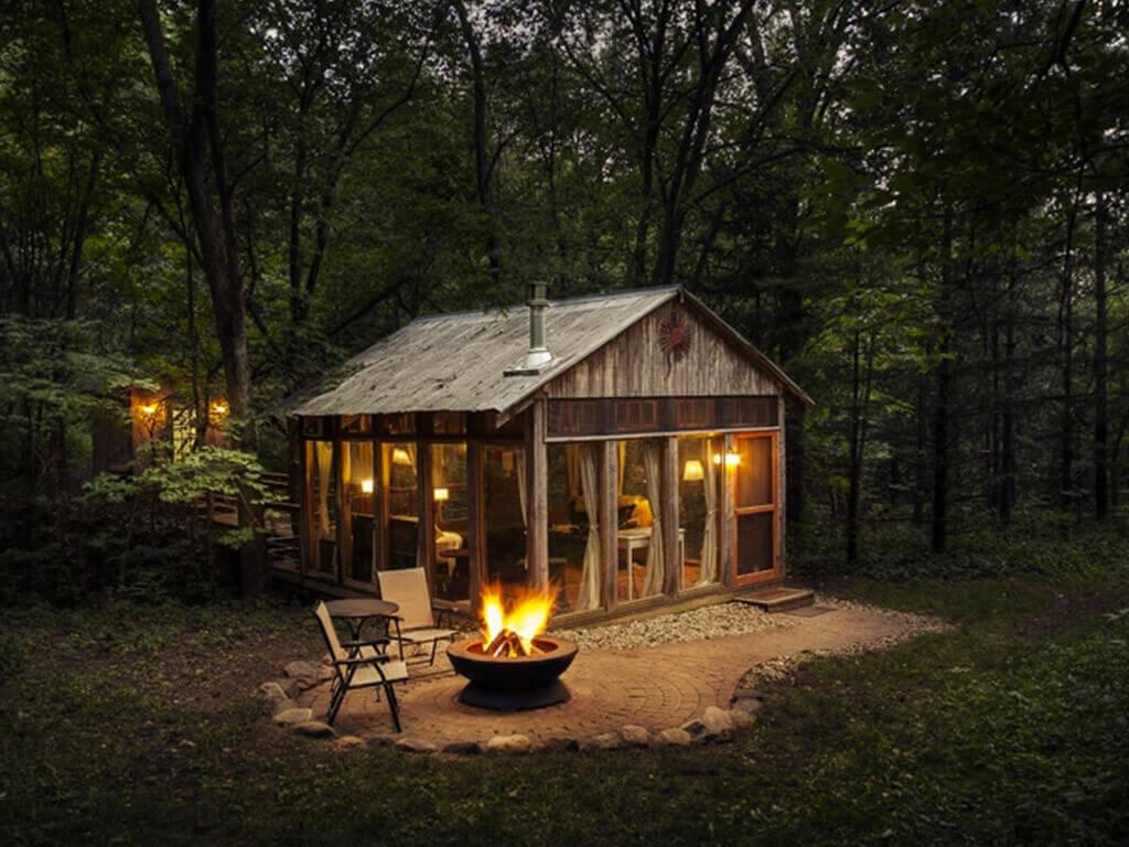 desain rumah kabin mungil