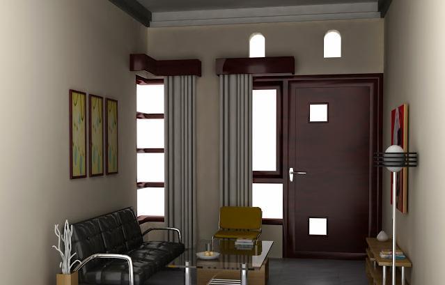 11 Foto Contoh Desain Modern Minimalis Ruang Tamu Rumah Tipe 36